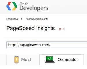 Mide tu velocidad web con PageSpeed Insights