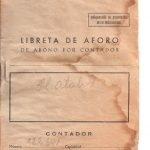 Libreta de consumo de electricidad antigua