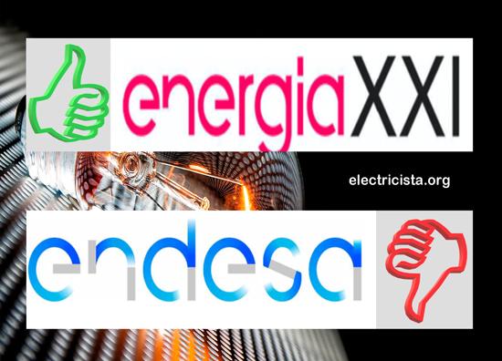 Comparativa Endesa vs Energia XXI