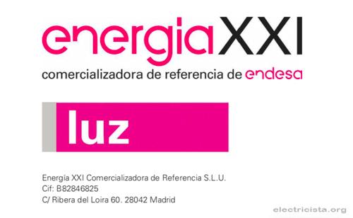 Logotipo de Energia XXI compañía de luz barata