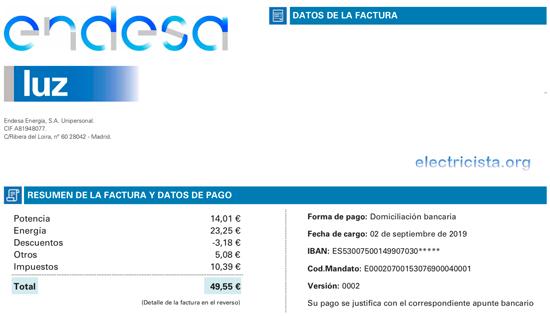 Si recibes la Factura de Endesa en Azul seguro que estas pagando más que con Energia XXI
