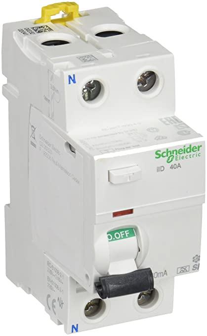 Diferencial Vivienda tipo Schneider Electric Interruptor diferencial iID, 30 mA, 2P, 40 A, Clase A Si