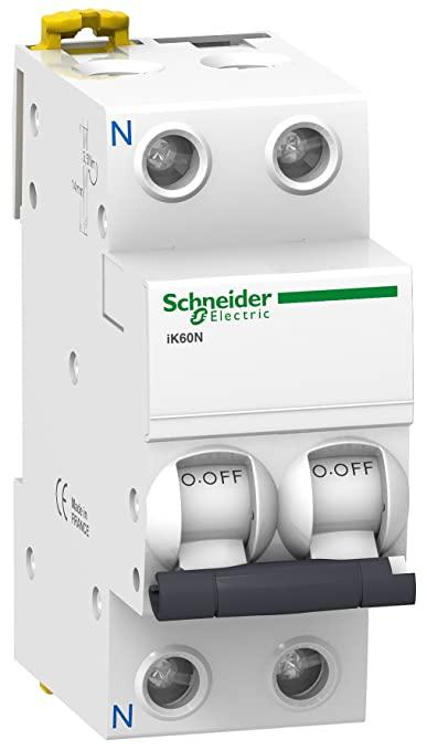 Magnetotermico Schneider Electric A9K17616 Interruptor Automático Magnetotérmico, Ik60N, 1P+N, 16 A, Curva C