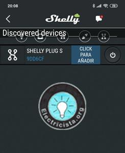 Click para añadir y ponemos un nombre a nuestro Shelly